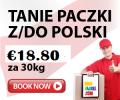 Tanie Paczki z NIEMIEC do POLSKI €18.80 za 30kg